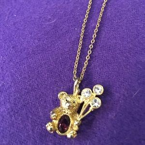 Jewelry - 🌹 birthstone February bear necklace🌹